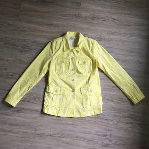 CAbi Yellow Field Of Daisies Jacket | Size Medium